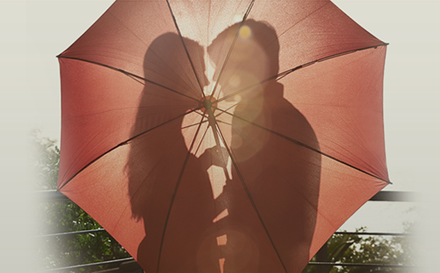 lovers and umbrella