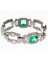 Diamond and Emerald Bracelet